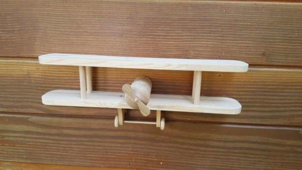 Avion étagère bois