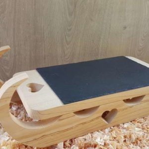 Plateau à fromage en bois luge