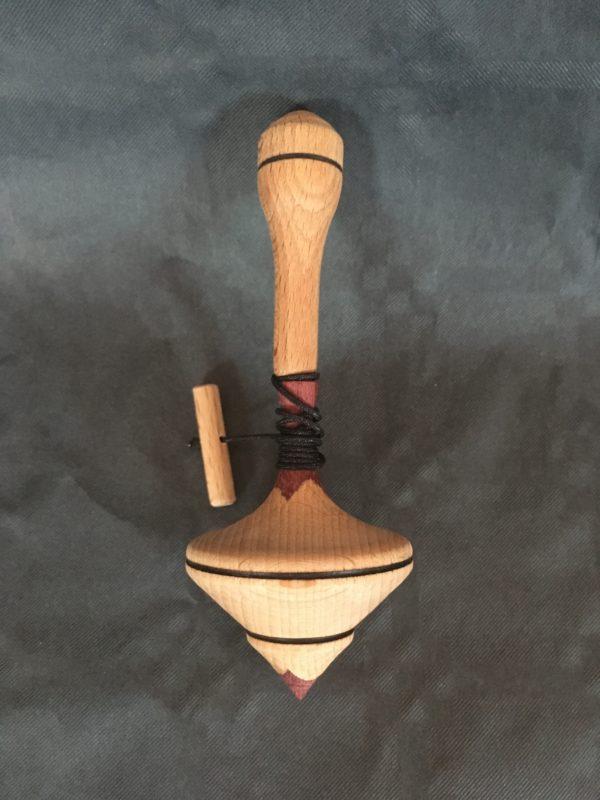 toupie en bois enfant