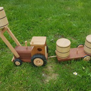 tracteur en bois jouet