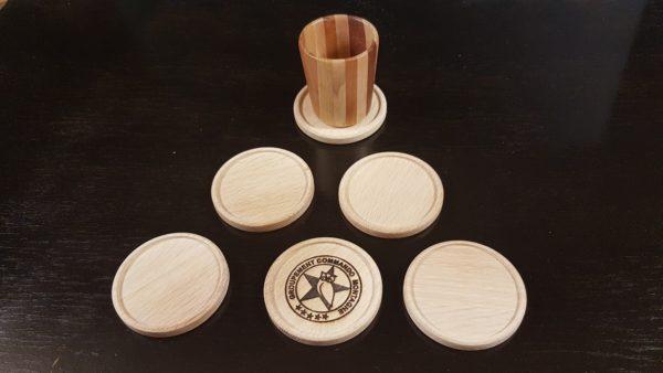 Sous-verre en bois