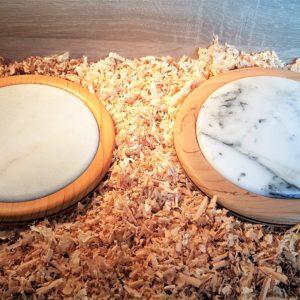 Dessous de plat rond en marbre