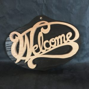 Panneau Welcome en bois