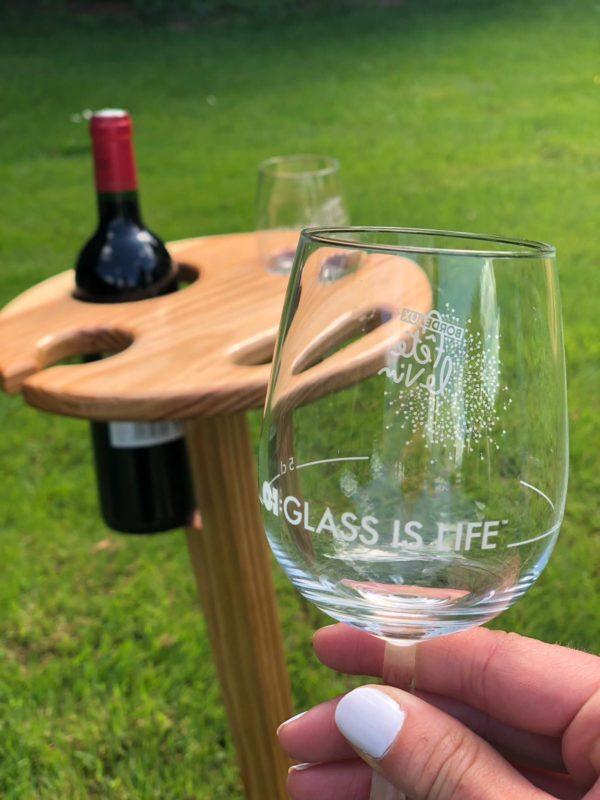 Table de vin pliable